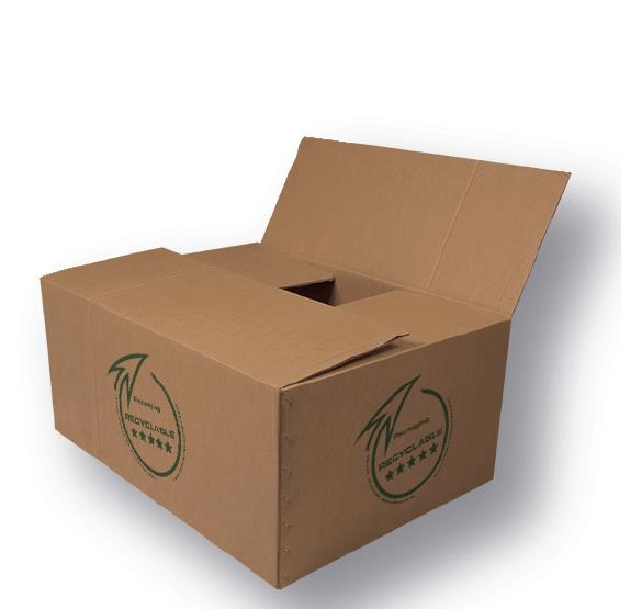 Sello de reciclabilidad estampado en caja DRIESDE