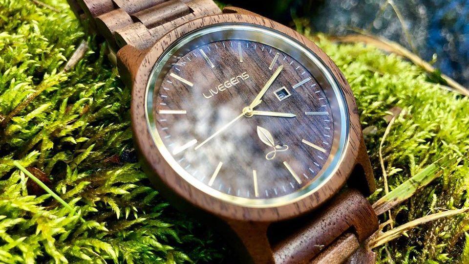 Livegens reloj madera